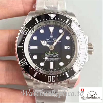 Swiss Rolex Sea Dweller Deepsea D-BLUE Replica 116660 Black Bezel 44MM