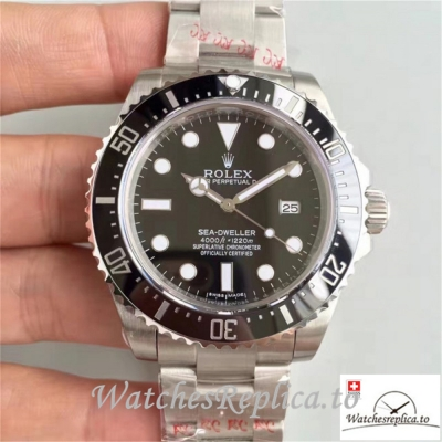 Swiss Rolex Sea Dweller Replica 116600 Black Ceramic Bezel 40MM