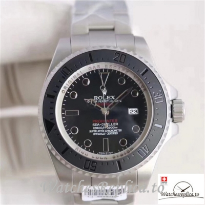 Swiss Rolex Sea Dweller Replica 116660 004 Black Ceramic Bezel 44MM