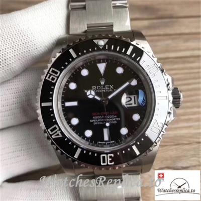 Swiss Rolex Sea Dweller Replica 126600 002 Black Ceramic Bezel 43MM