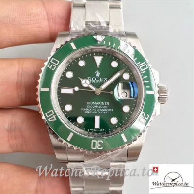 Swiss Rolex Submariner Date Replica 116610LV 001 Silver Strap 40MM