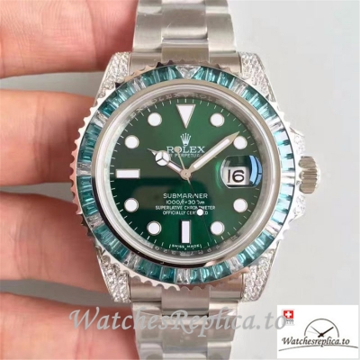 Swiss Rolex Submariner Date Replica 116610LV 002 Silver Strap 40MM