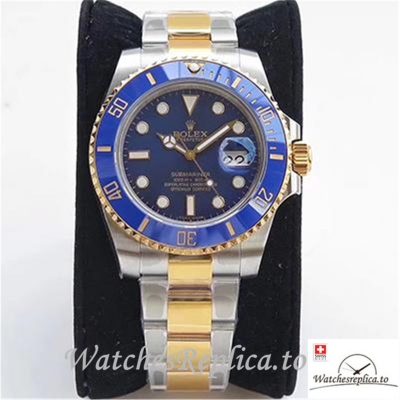 Swiss Rolex Submariner Date Replica 116613LB 001 Blue Bezel 40MM
