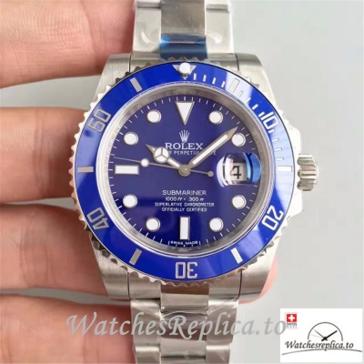Swiss Rolex Submariner Date Replica 116619LB Silver Strap 40MM