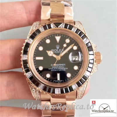 Swiss Rolex Submariner Replica 116618LN 001 Diamonds Bezel 40MM