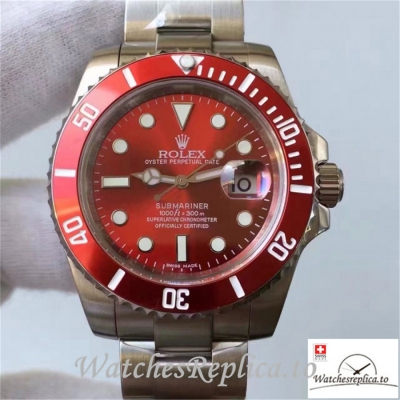 Swiss Rolex Submariner Date Replica 116610LN 001 Red Ceramic Bezel 40MM