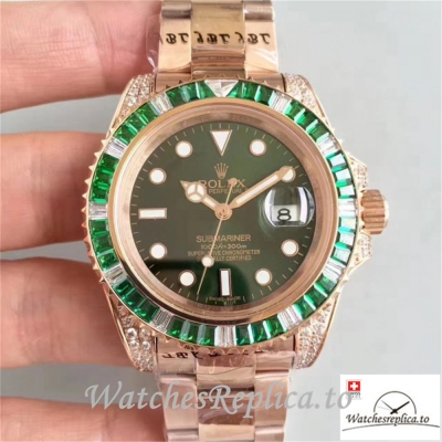 Swiss Rolex Submariner Date Replica 116618LV 001 18K Rose Gold Strap 40MM