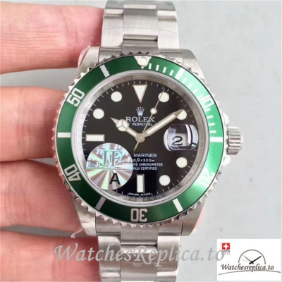 Swiss Rolex Submariner Date Replica 16610LV Green Aluminium Bezel 40MM