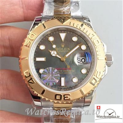 Swiss Rolex Yacht Master Replica 116621 001 Rose Gold Bezel 40MM