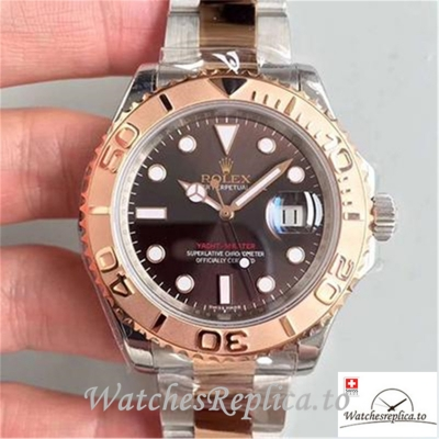 Swiss Rolex Yacht Master Replica 116621 Rose Gold Bezel 40MM