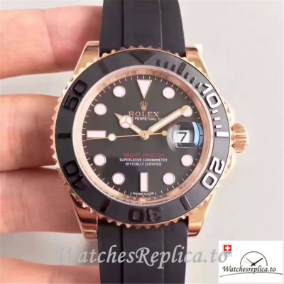 Swiss Rolex Yacht Master Replica 116655 Black Bezel 40MM