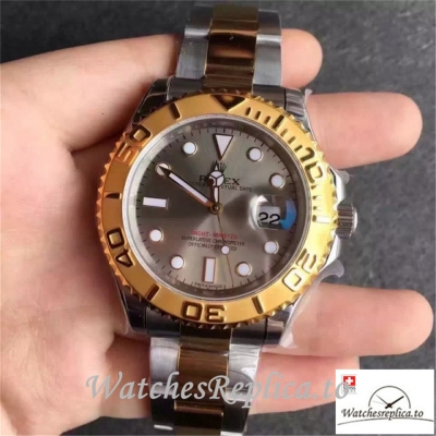 Swiss Rolex Yacht-Master Replica 116623 002 Yellow Gold Bezel 40MM
