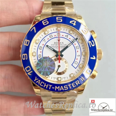 Swiss Rolex Yacht-Master Replica 116688 Yellow Gold Strap 44MM