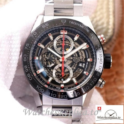 Swiss Tag Heuer Carrera Replica CAR2A1W.BA0703 Black Bezel 45MM