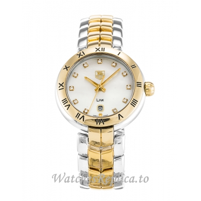 Tag Heuer Link Mother of Pearl   Silver Diamond Dial WAT1453.BB0960 27 MM