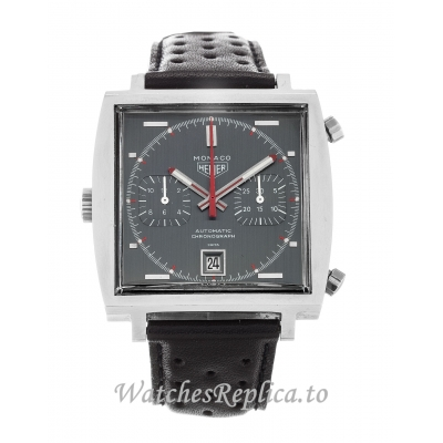 Tag Heuer Monaco Black Dial 1133G-37 MM