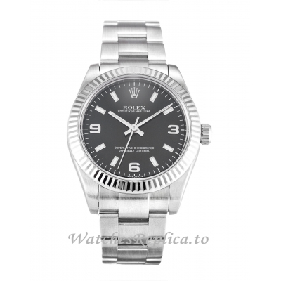 Rolex Lady Oyster Perpetual Black Dial 177234-31 MM