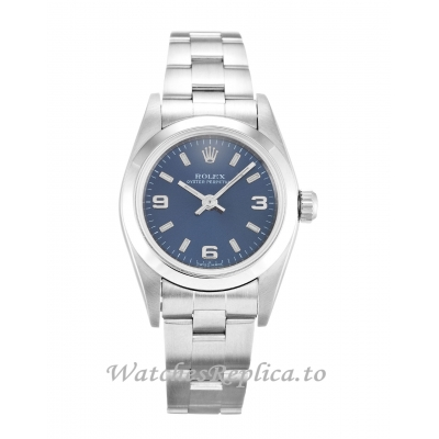 Rolex Lady Oyster Perpetual Blue Dial 76080-24 MM