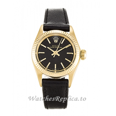 Rolex Lady Oyster Perpetual Black Dial 6718-26 MM