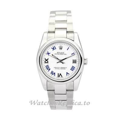 Rolex Lady Oyster Perpetual Blue and white Dial 177200-31 MM
