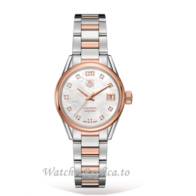 TAG Heuer Replica Carrera Calibre 9 28mm Ladies Watch WAR2452.BD0777