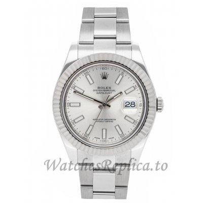 Rolex Replica Datejust II Silver Dial 41mm 116334