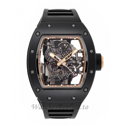 Richard Mille Replica RM055 Bubba Watson Asia Edition Black Ceramic 50MM Watch M05507006
