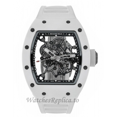 Richard Mille Replica RM055 Bubba Watson White Ceramic 49MM Watch  M05507007
