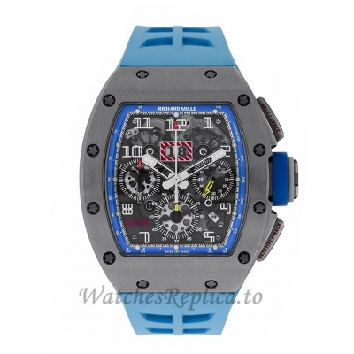 Richard Mille Replica Felipe Massa Blue Americas Titanium 50MM Watch M01107012