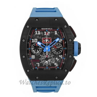 Richard Mille Replica Restivo Edition Titanium Blue Chronograph 50MM Watch M01107031