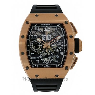 Richard Mille Replica Felipe Massa Boutique Edition Rose Gold 49MM Watch M01107027