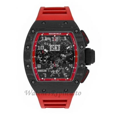 Richard Mille Replica Felipe Massa Black Night NTPT Carbon 50MM Watch M01107009