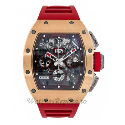Richard Mille Replica Red Demon Titanium & 18K Rose Gold 50MM Watch M01107014