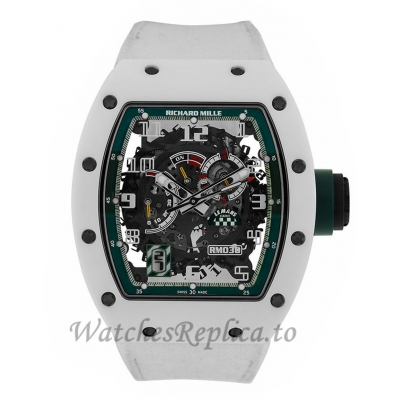 Richard Mille Replica RM030 Le Mans White ATZ Ceramic 50MM Watch RM030 384456