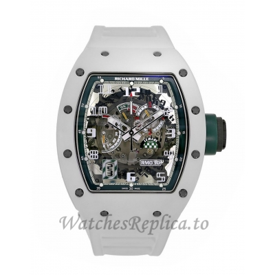 Richard Mille Replica RM030 Le Mans White ATZ Ceramic 50MM Watch RM0303 384457