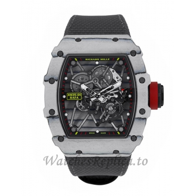 Richard Mille Replica RM35-01 Rafael Nadal Ultimate White Carbon 50MM Watch RM35-01 16337