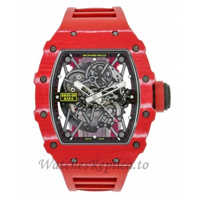 Richard Mille Replica RM35-02 Rafael Nadal Red Quartz TPT 49MM Watch 69878