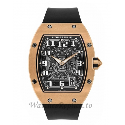 Richard Mille Replica RM67-01 Rose Gold Extra Flat Automatic 47MM Watch 536999
