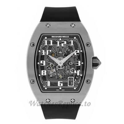 Richard Mille Replica RM67-01 Titanium Extra Flat Black Automatic 47MM Watch RM67-01 47896
