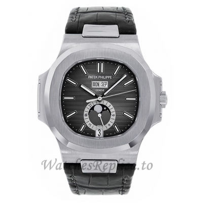 Patek Philippe Replica Nautilus Moon Phase Stainless-Steel 40MM Watch 5726A001