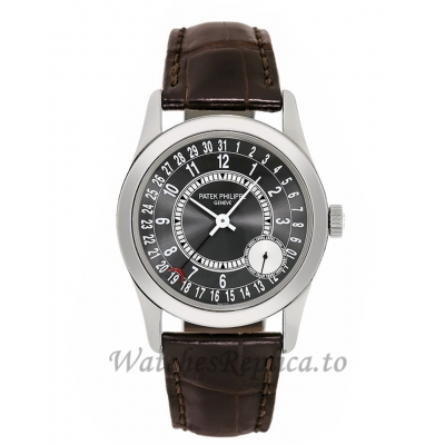 Patek Philippe Replica Calatrava White Gold Small Seconds Grey Dial 37MM Watch 6000G010