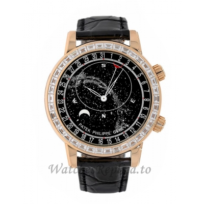 Patek Philippe Replica Grand Complications Rose Gold Gem Celestial 44MM Watch 6104R001