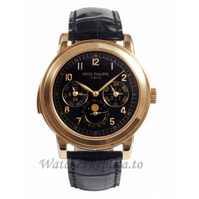 Patek Philippe Replica Grand Complications Rose Gold Perpetual Calendar Watch 5074R001