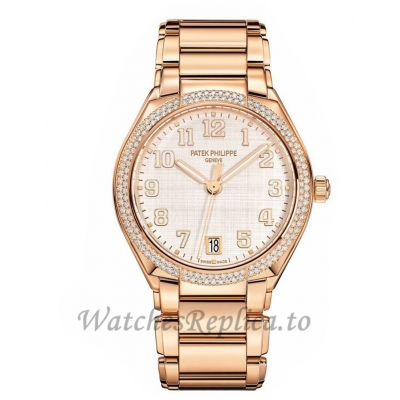 Patek Philippe Twenty 4 Rose Gold Silver Dial 36MM Watch 73001200R010