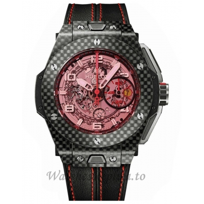 Hublot Replica Big Bang Unico Ferrari Carbon Chronograph 45MM Watch 401.QX.0123.VR